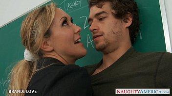 blonde xxx garl teacher brandi love riding cock in classroom