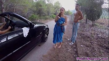 jenny bulu sexy video glam fucked on a public road and sucks a big fat cock
