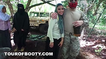 tour of booty - american soldiers getting xxxvideo sweet arab pussy during downtime