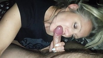 hanysy hot 43 year old milf is doing a blow ponr tube job cum in mouth