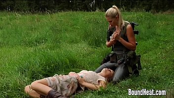 lesbian huntress caught young brunette youpor  com in the woods
