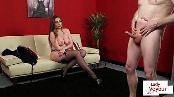 chubby naked girls bigtitted milf voyeur instructing tugging guy