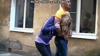 sexy blonde caught and fucked in an 18 year girl sex vedio abandoned house