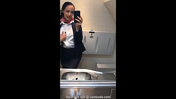 latina stewardess joins the masturbation mile high club in the lavatory wwwxxxxx and cums