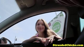 teen hitchhiker fucked how fuck girl pov style outdoors
