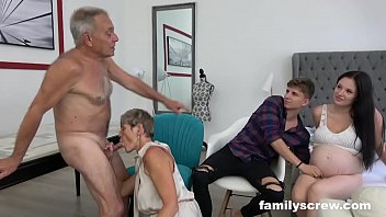 pregnant sixy maid watching family fuck