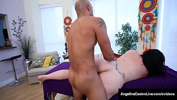 curvy cuban bbw hot and sexxy video angelina castro massaged by big black cock