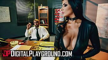 sunny leon xxx sexy brunette romi rain has her pussy pounded hard by her boss stallion - digitalplayground