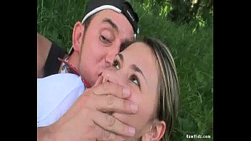 outdoor sex with pigtailed kissing her nipples teen facial