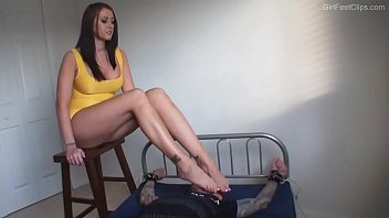 seks videos alexis grace wooden stool
