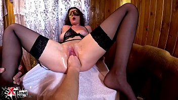 hot brunette fisting beegcom pussy and rough anal sex - creampie