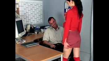 skinny secretary fucking in knee xvedious high stockings