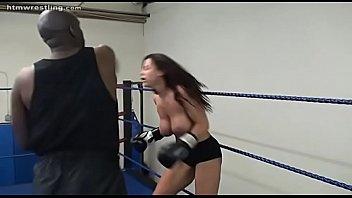 hot horney woman boxing interracial mix