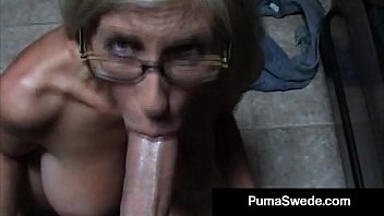 euro porn star puma swede gets www sexey milky glasses after blow job