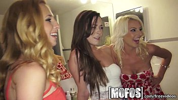 mofos - three dirty xvedeo teens get the porn party started