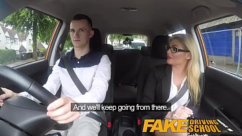 bbw sax com fake driving school learners nerves calmed by fucking hot blonde examiner