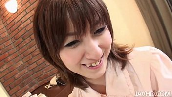 hiromi has a nice set of                    tits that she enjoys having squeezed while she rides a