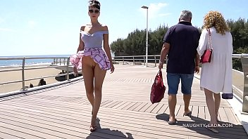 short skirt and wind. nude pornstar public flashing...