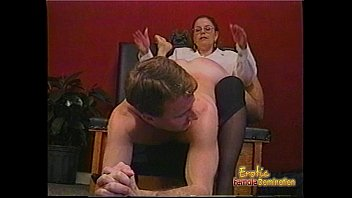 kinky dude receives xxx tv some hardcore spanking from a bespectacled slag