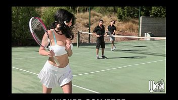 busty cougar is picked up zvideoa at the tennis club and double teamed