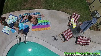 chicks gets filmed by xxxfree a drone guy