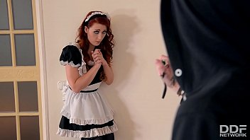 gorgeous redhead maid isabella lui gets fucking competition hard anal by burglar