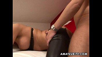 busty amateur girlfriend sucks and fucks with mia khalifa lesbian sex cum on ass