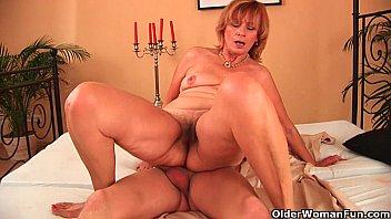 plump badi chut photo grandma fucks her toy boy s cock with her unshaven pussy