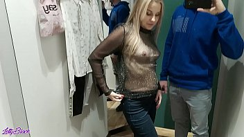 completely caught porn image in the dressing room during a blowjob - letty black