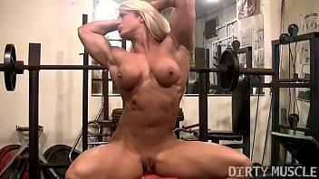 female bodybuilder lisa cross boy taking out girl dress naked workout