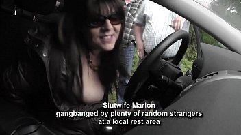 hot wife gangbanged by random strangers at a kayatan rest area