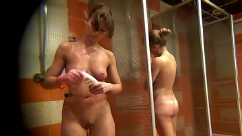 spy camera muscle girl hentai in the women s shower sports club