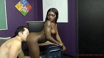 sexy black student blackmails her teacher - noemie xvideos22 bilas - femdom
