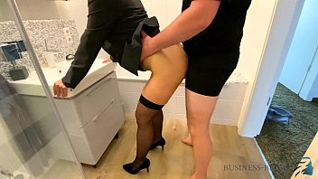 female boss bathroom oldmansexvideo quickie before work - business bitch