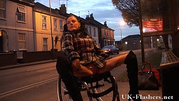 leah caprice flashing pussy in public xxxxwww from her wheelchair with handicapped engli