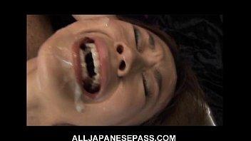 this fine japanese babe gets porrn a hot bukkake