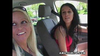 2 hot amateur sluts in an brazer xxx outdoor group sex action