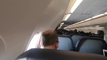 public honeymoon sex airplane blowjob