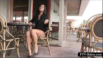 brunette teen minx sleeping daughter sex stripping her undies in public
