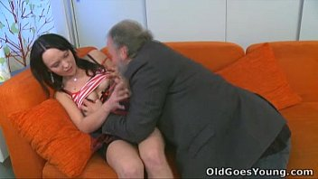 old nude 69 goes young - she loves having sex with old guy