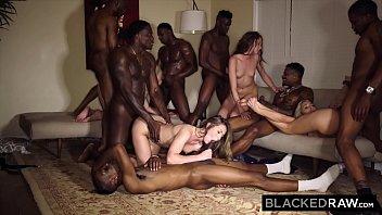 blackedraw four college girls in hot xxx app insane bbc gangbang