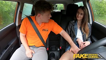fake driving school cute teen sunny leone bp brunette pussy stretched