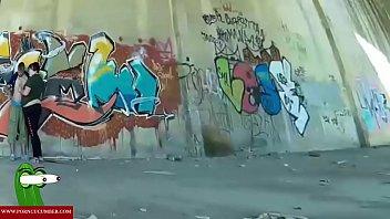 fucking in the graffitis threesome zone. raf072