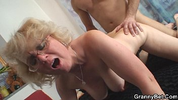 lonely 70 years old granny nude couple slammed from behind