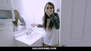 xnxvideos sislovesme - hot stepsis joseline kelly fucks and accidentally bites stepbros cock