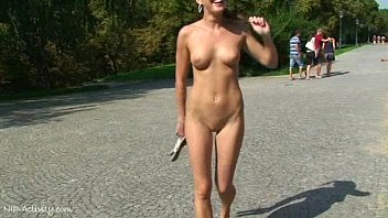 spectacular public nudity hottest sex ever with crazy babe laura and friends