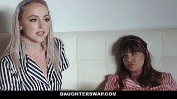 daughterswap - teens alison rey xexx iris rose fuck dads best friend during movie