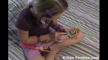 nubile teen kitty playing with youjis com her little dolls