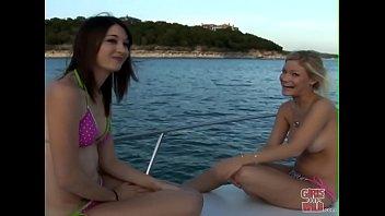 girls gone wild school sex vedio - a couple of y. lesbians having fun on a boat