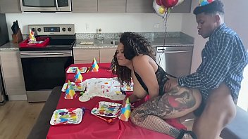nobody came to my bday party so seks video my stepmom gave me an extra surprise... pt1